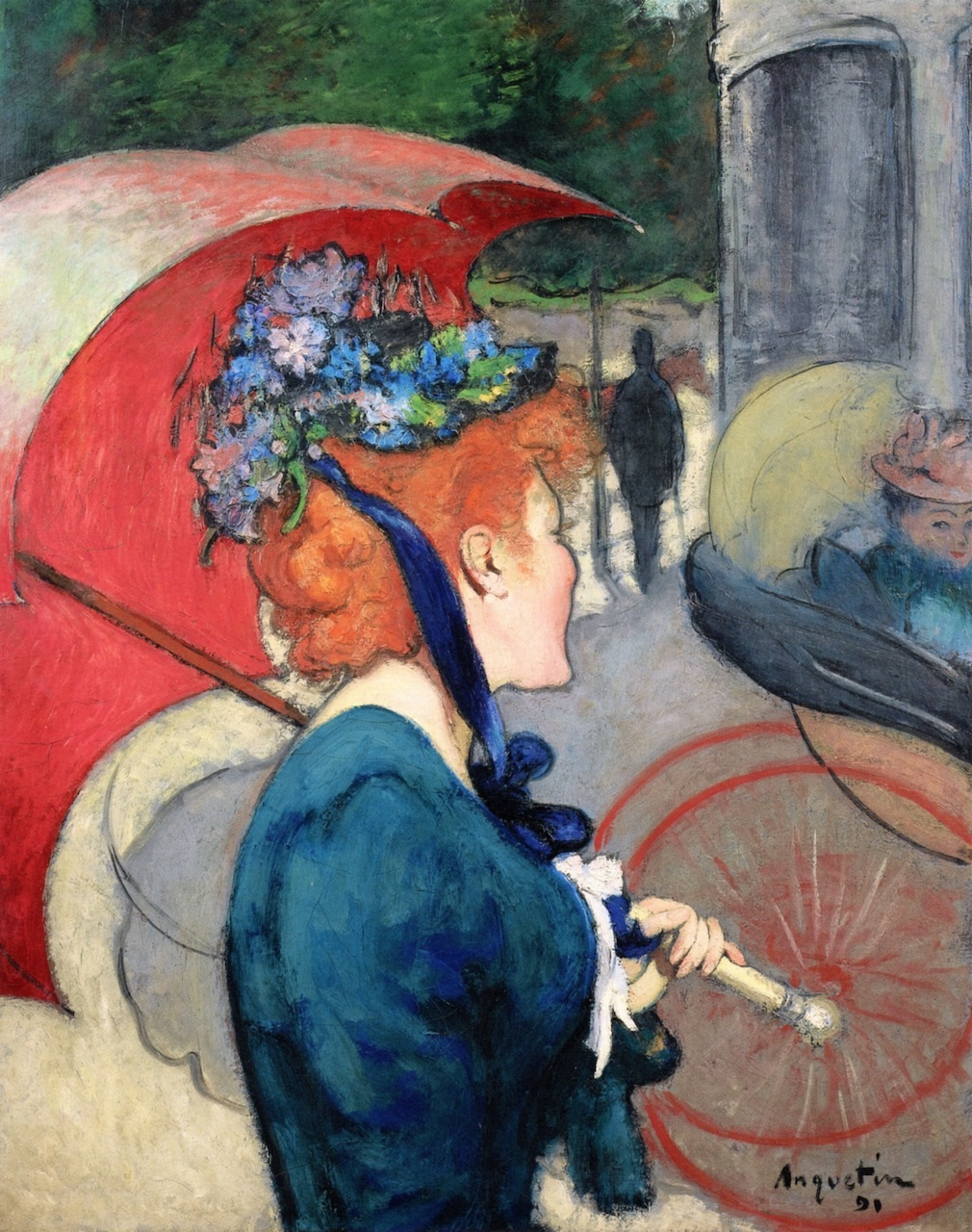 Woman with Umbrella 1891