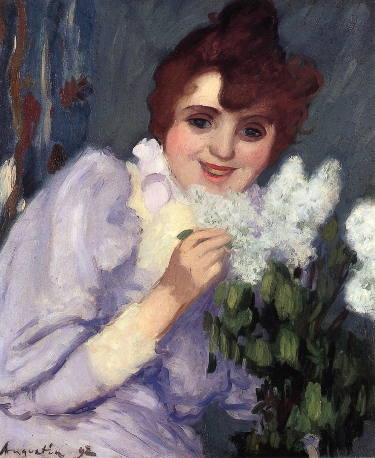 Woman with Lilacs 1892