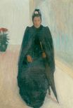 A Sitting Woman with Umbrella 1890