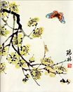 Butterfly and flowering plum 1935