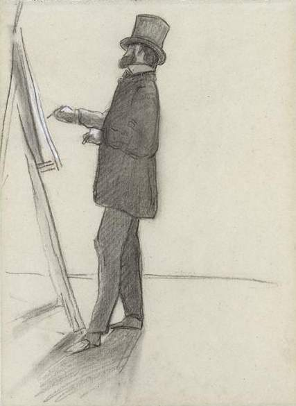 Manet and his easel 1968