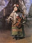 Frederic Bazille most famous paintings. Little Italian Street Singer 1866