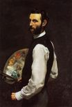 Frederic Bazille most famous paintings. Self-Portrait 1866