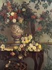 Vase of flowers on a console 1868