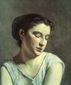 Frederic Bazille most famous paintings. Young Woman with Lowered Eyes 1868