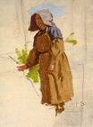 Grape Picker in a Cap 1870
