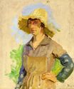 Grape Picker in a Yellow Hat 1870