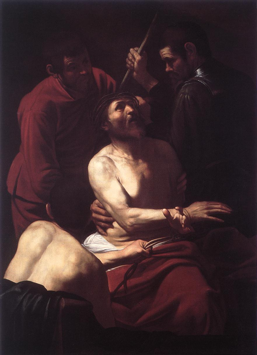 Caravaggio - Crowning with Thorns 1603