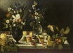 Caravaggio - Still Life with Flowers and Fruits 1600-1610