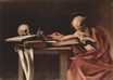 Caravaggio - Saint Jerome Writing 1605
