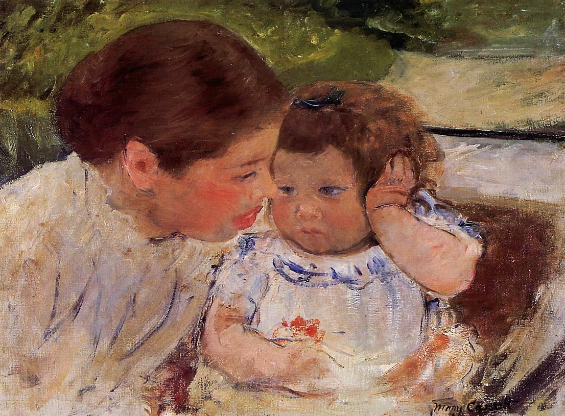 Mary Cassatt - Susan Comforting the Baby (no.1) 1881
