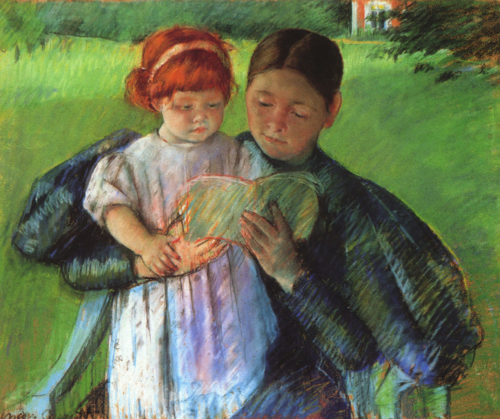 Mary Cassatt - Nurse Reading to a Little Girl 1895
