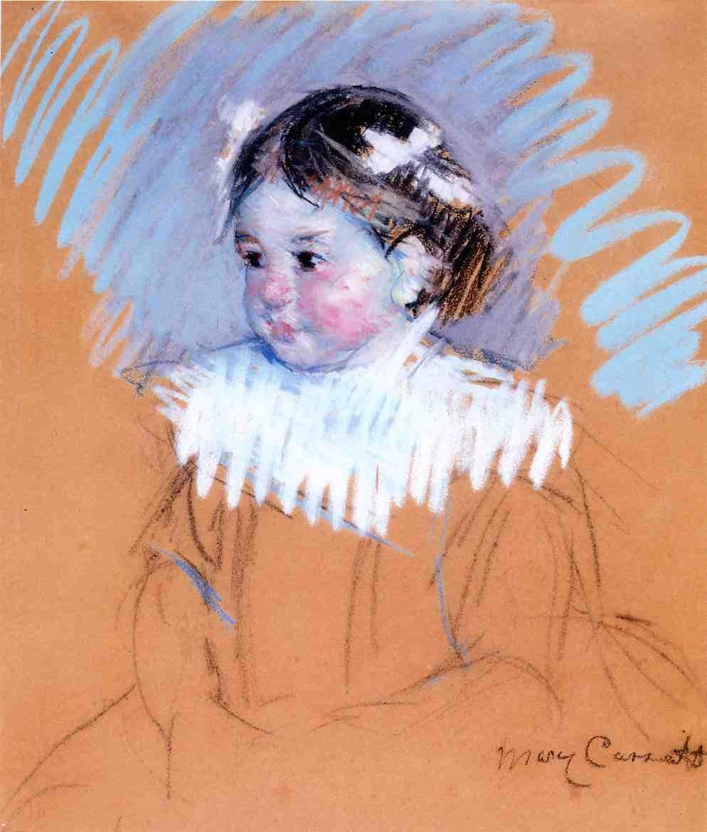 Mary Cassatt - Bust of Ellen with Bows in Her Hair 1898