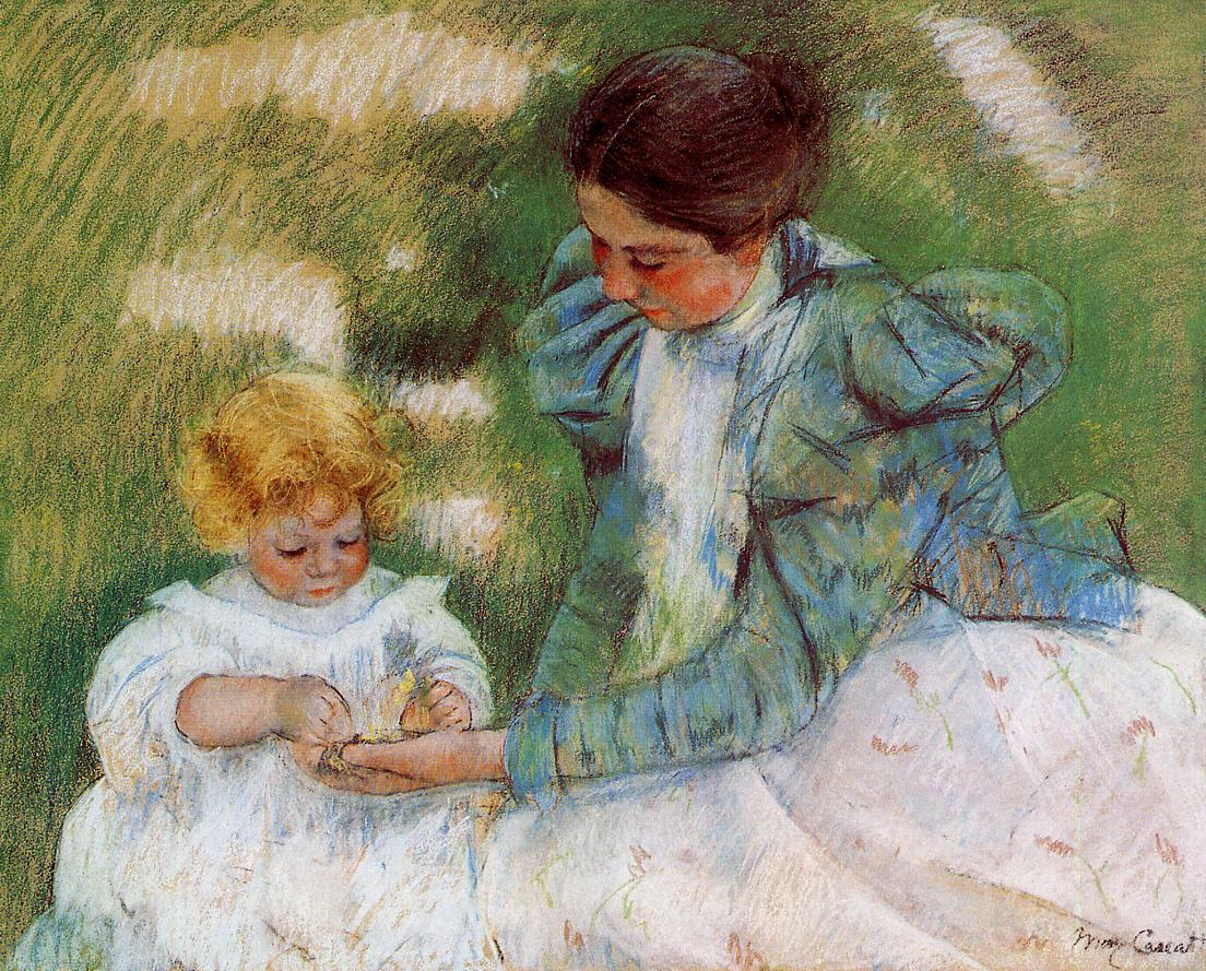 Mary Cassatt - Mother Playing with Her Child 1899