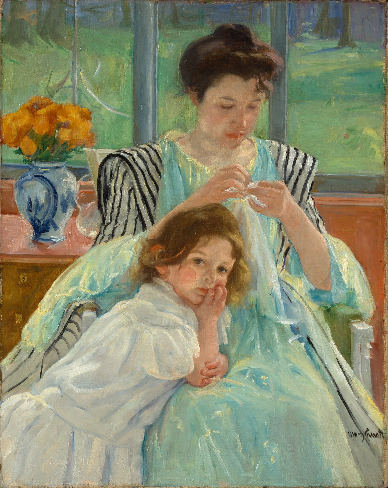 Mary Cassatt - Young Mother Sewing 1900