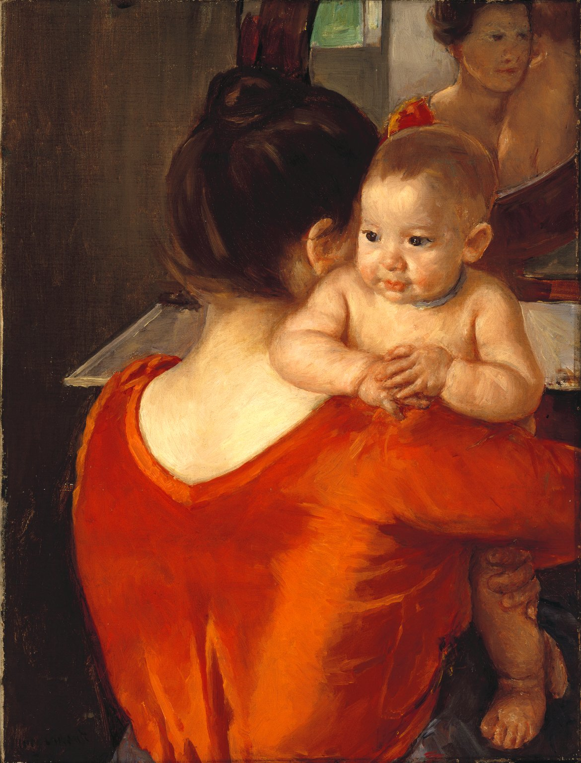 Mary Cassatt - Mother and Child. Woman in a Red Bodice and Her Child 1901