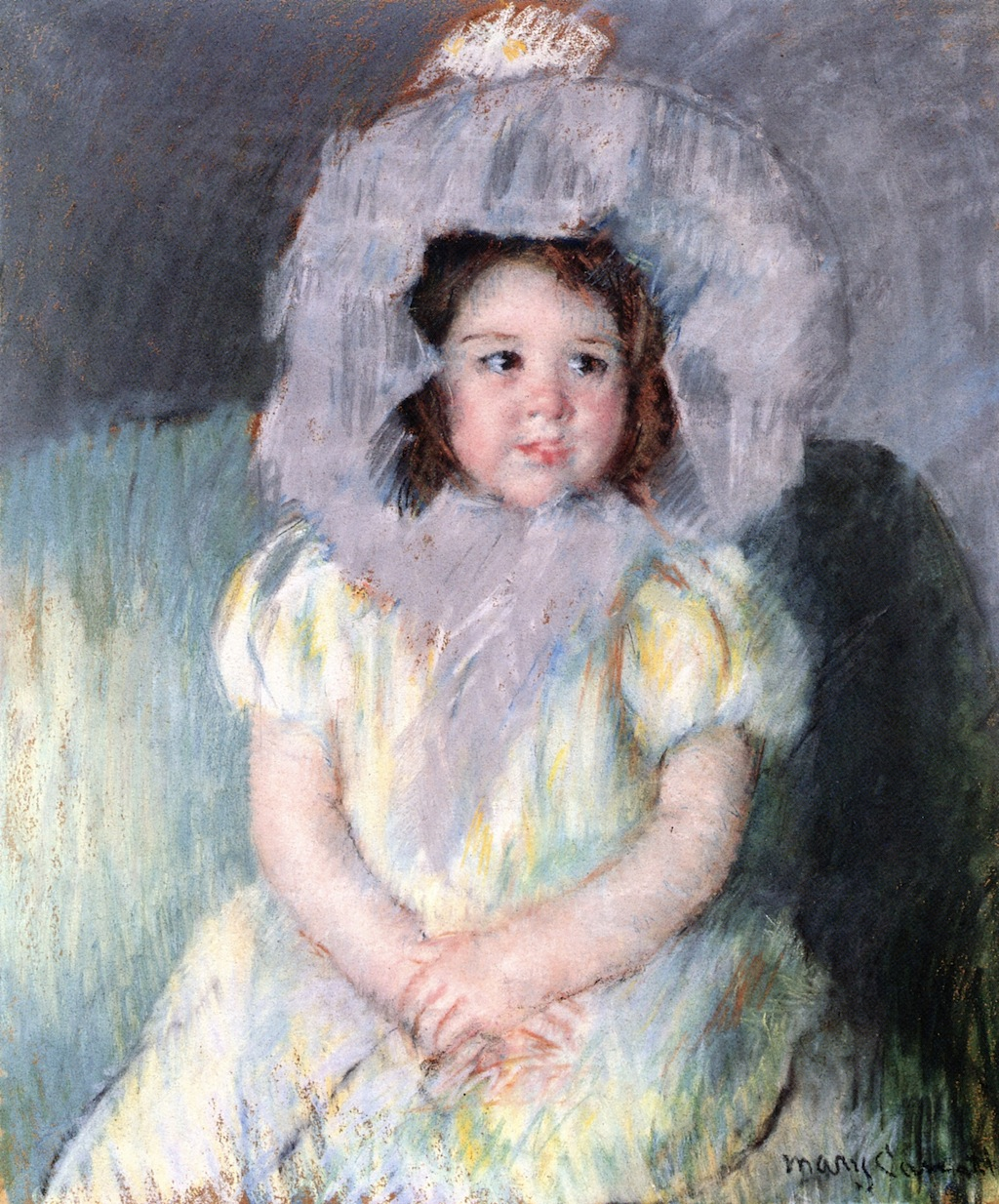 Mary Cassatt - Margot in White 1902