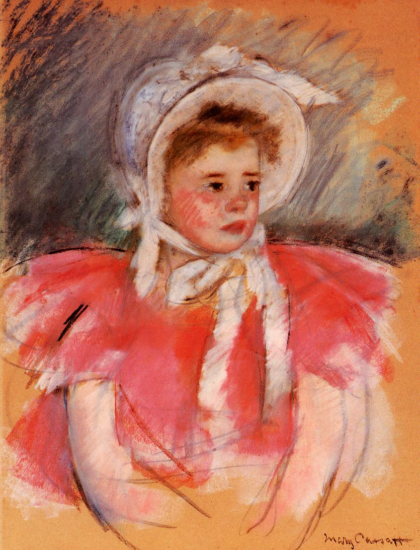 Mary Cassatt - Simone in White Bonnet Seated with Clasped Hands (no.1) 1903
