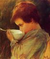 Mary Cassatt - Child Drinking Milk 1868