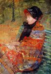 Mary Cassatt - Portrait of Mlle C. Lydia Cassatt 1880