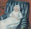 Mary Cassatt - Madame Bérard's Baby in a Striped Armchair 1880-1881