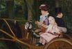 Mary Cassatt - A woman and child in the driving seat. A Woman and a Girl Driving 1881