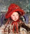 Mary Cassatt - Little Girl in a Large Red Hat 1881