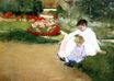 Mary Cassatt - Woman and Child Seated in a Garden 1881
