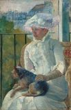 Mary Cassatt - Susan on a balcony holding a dog 1883-1884