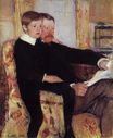 Mary Cassatt - Portrait of Alexander J. Cassat and His Son Robert Kelso Cassatt 1884