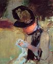 Mary Cassatt - Young Woman Sewing in the Garden 1886