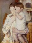 Mary Cassatt - Baby in His Mother`s arms, sucking his finger 1889