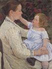 Mary Cassatt - The Child`s Caress 1890