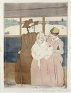 Mary Cassatt - In the Omnibus. The Tramway 1890-1891