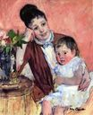 Mary Cassatt - Madame H. de Fleury and Her Child 1890-1891