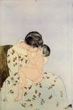 Mary Cassatt - The Kiss 1890-1891