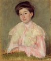 Mary Cassatt - Portrait of a Lady. Portrait of a Smiling Woman in a Pink Blouse 1890