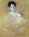 Mary Cassatt - Smiling Mother with Sober Faced Child 1894