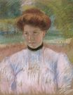 Mary Cassatt - Young Woman with Auburn Hair in a Pink Blouse 1895