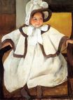 Mary Cassatt - Ellen Mary Cassatt In A White Coal 1896