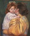 Mary Cassatt - Mother and Child. Maternal Kiss 1896