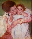 Mary Cassatt - Little Ann Sucking Her Finger Embraced by Her Mother 1897