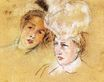 Mary Cassatt - Heads of Leontine and a Friend 1898