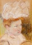 Mary Cassatt - Leontine in a Pink Fluffy Hat 1898