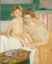 Mary Cassatt - Mother and Child. Baby Getting Up from His Nap 1899