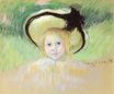 Mary Cassatt - Girl in a Hat with a Black Ribbon 1901-1902