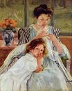 Mary Cassatt - Young Mother Sewing 1902