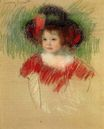 Mary Cassatt - Margot in Big Bonnet and Red Dress 1902