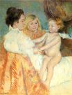 Mary Cassatt - Mother Sara and the Baby 1902