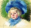 Mary Cassatt - Head of Simone in a Large Plumes Hat, Looking Left 1903